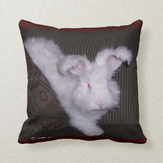 GERMAN ANGORA BUNNIE PILLOW