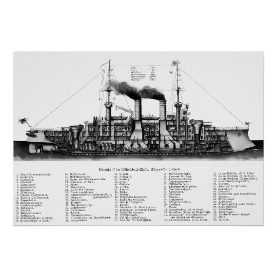 German Armoured Cruiser Poster