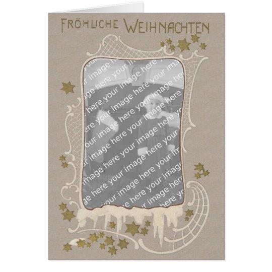 German Art Nouveau Photo Frame Christmas Card P