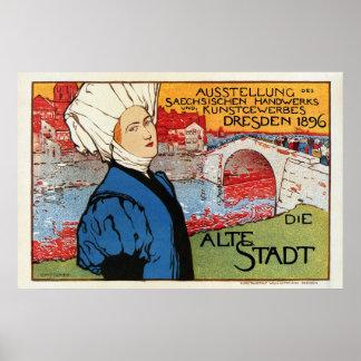 German artisanic art expo Dresden 1896 Posters