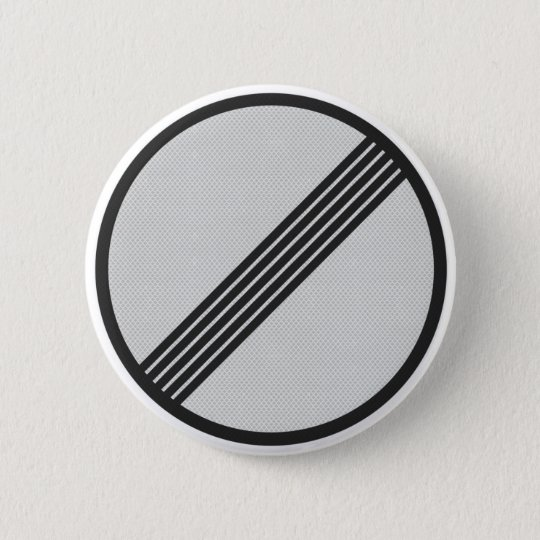 German Autobahn highway sign button