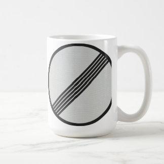 German Autobahn 'No speed restrictions' mug