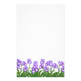 German Bearded Irises Stationery