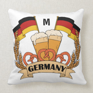 German Beer custom monogram throw pillows