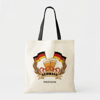 German Beer custom name tote bags