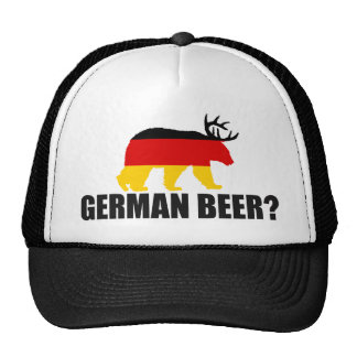 German Beer?  Germany Flag Bear With Antlers Hat