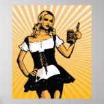 German Bierfest Girl Poster