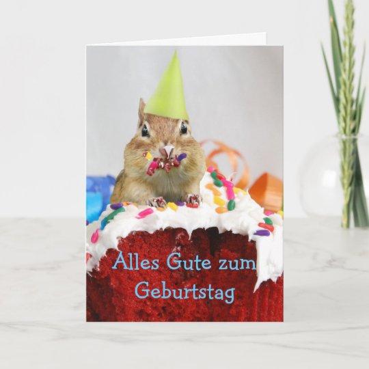 German Birthday Chipmunk Card Zazzle