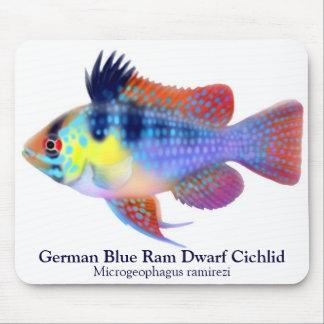 German Blue Ram Dwarf Cichlid Mousepad