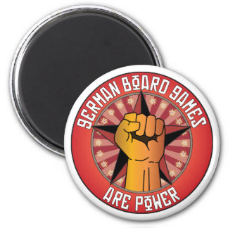 German Board Games Are Power 6 Cm Round Magnet