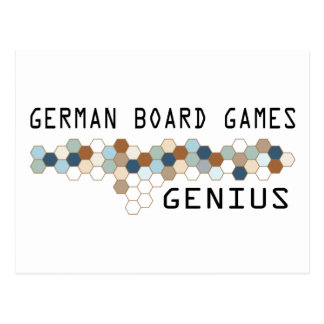 German Board Games Genius Postcard