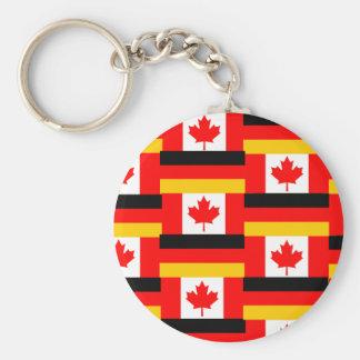 german canadian basic round button key ring