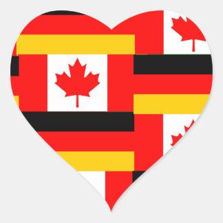 german canadian heart sticker