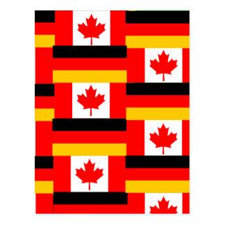 german canadian post card