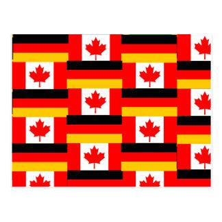 german canadian postcard