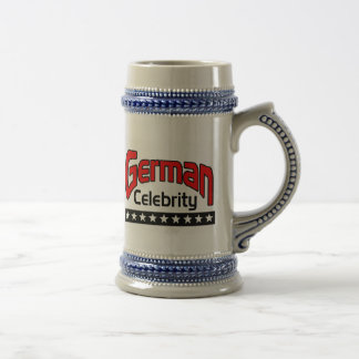 German Celebrity Beer Stein