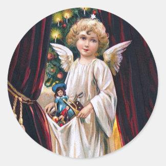 German Christ Child Round Sticker