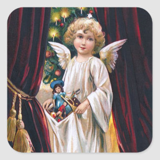 German Christ Child Square Stickers