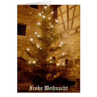 German Christmas Card-Frohe Weihnacht Greeting Card