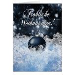 German Christmas Card - Gesegnete Weihnachten und