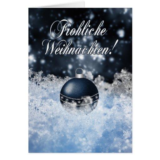 german christmas card gesegnete weihnachten und zazzle