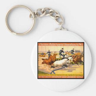 German Circus Advertisement Vintage 1900 Basic Round Button Key Ring