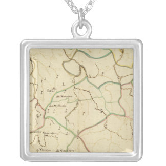 German Cities Silver Plated Necklace