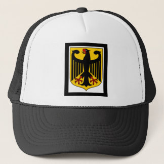 GERMAN COAT OF ARMS PRINT TRUCKER HAT
