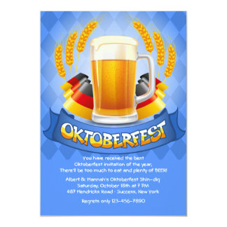 German Colors Oktoberfest Invitation