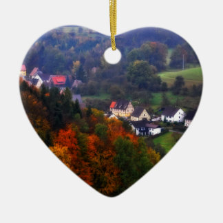 German Countryside in the fall Christmas Ornament