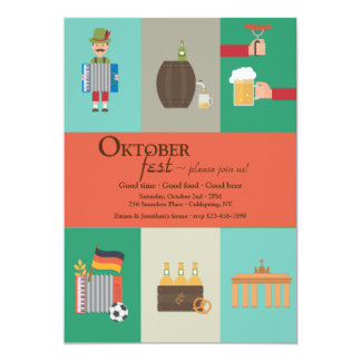 German Culture Oktoberfest Invitation