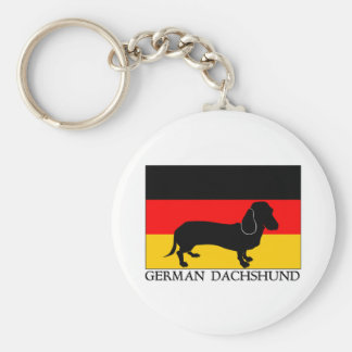 German Dachshund Key Ring