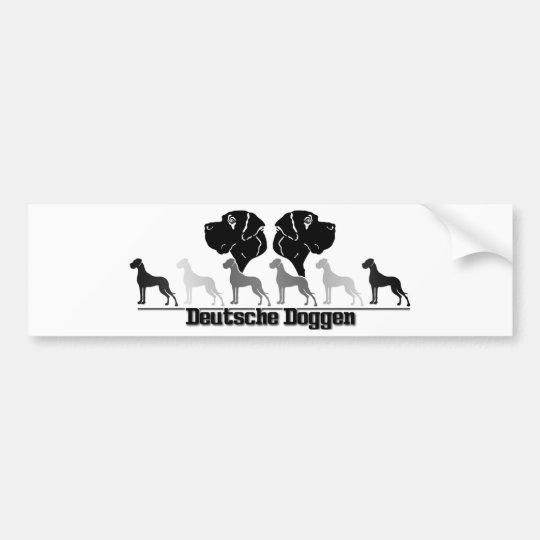 German Doggen stickers Bumper Sticker