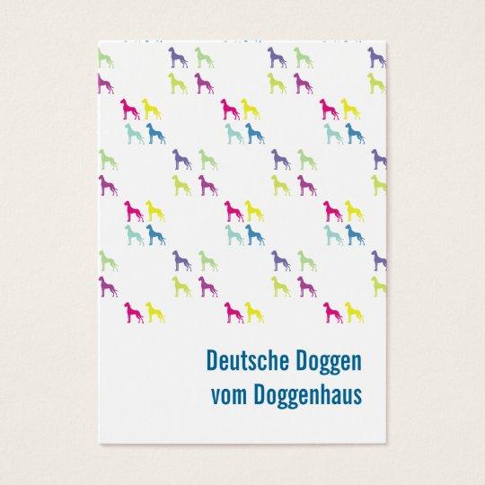 German Doggen visiting cards