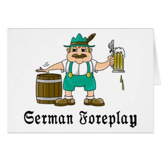 German Drinking Card