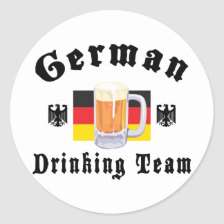 German Drinking Team Classic Round Sticker