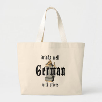 German Drinks Well With Others Oktoberfest Jumbo Tote Bag
