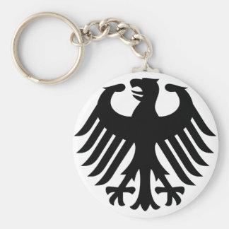 German Eagle Basic Round Button Key Ring
