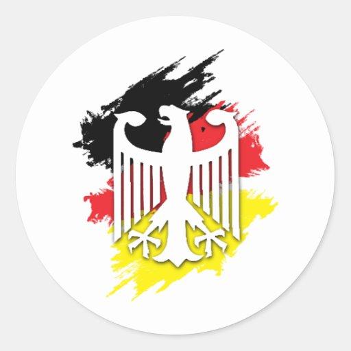 German Eagle Classic Round Sticker