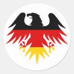 German Eagle Crest Round Sticker