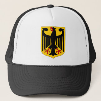 German Eagle on Yellow Shield Trucker Hat