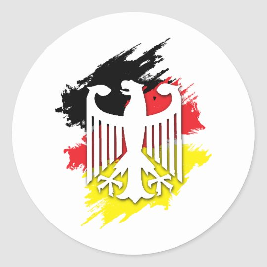 German Eagle Round Sticker