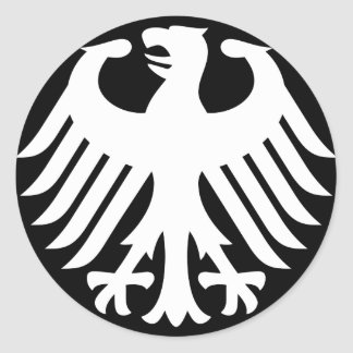 German Eagle Round Stickers