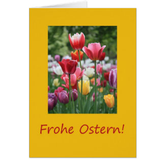 German Easter Tulips Card