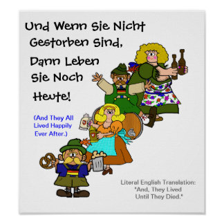 German Fairytale Happy Ending Octoberfest Poster