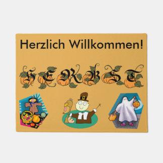 German Fall (Autumn) Welcome Mat