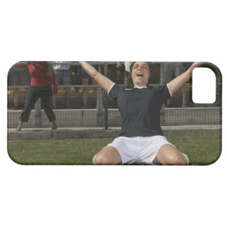 German female soccer player celebrating goal barely there iPhone 5 case