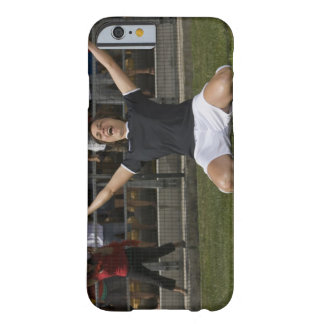 German female soccer player celebrating goal barely there iPhone 6 case