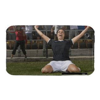 German female soccer player celebrating goal iPhone 3 cover