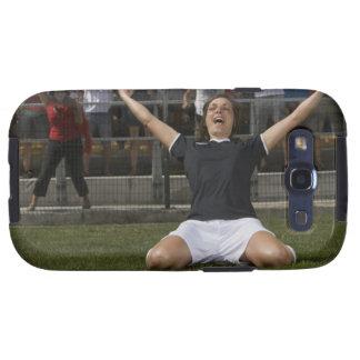 German female soccer player celebrating goal samsung galaxy s3 case